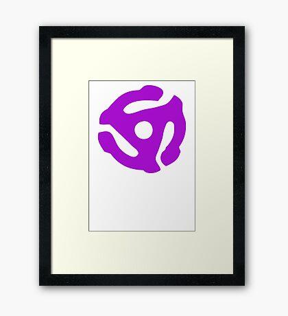 Purple 45 Vinyl Record Symbol Framed Print