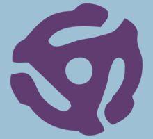 Purple 45 Vinyl Record Symbol by retrorebirth