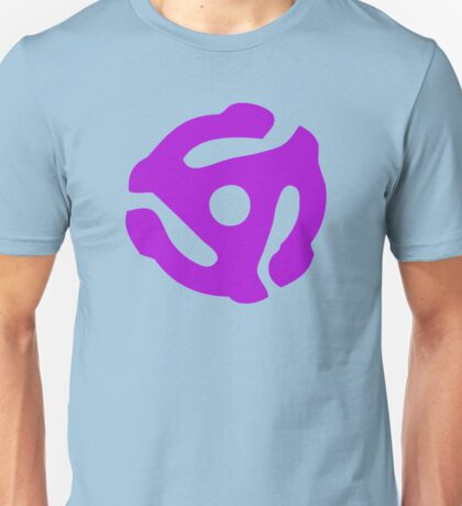 Purple 45 Vinyl Record Symbol Unisex T-Shirt