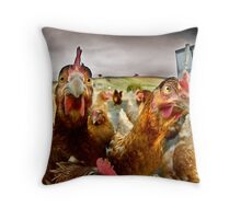 chicken attitude 2 Throw Pillow