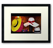 Panama Hats Are Made In Ecuador III Framed Print