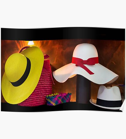 Panama Hats Are Made In Ecuador III Poster