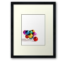 Christmas Baubles Framed Print