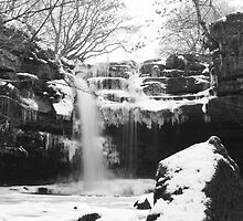 Gibsons Cave Waterfall in Winter by jonAt