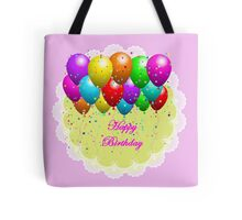 Colorful Happy Birthday Balloon Tote Bag