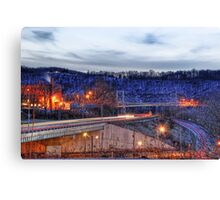 Newell Bridge and Car Lights Canvas Print