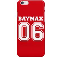 Baymax Big Hero Jersey Number iPhone Case/Skin