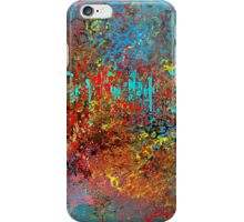 Colorful Absract in Aqua, Red, Yellow, and Blue iPhone Case/Skin
