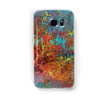 Colorful Absract in Aqua, Red, Yellow, and Blue Samsung Galaxy Case/Skin