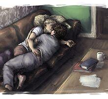 Johnlock Cuddle Nap by justaholmesboy