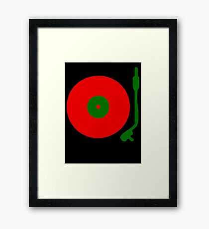 Red Green DJ Vinyl Record Turntable Framed Print
