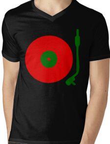 Red Green DJ Vinyl Record Turntable Mens V-Neck T-Shirt