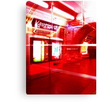 Red Metro Canvas Print