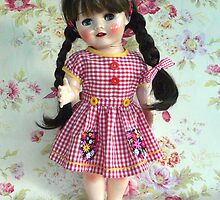 1950s English hard plastic walker doll by MaryHogan