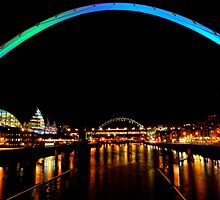 Tyne Bridges at night by jonAt