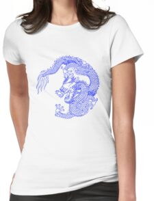 Asian Art Chinese Dragon Womens Fitted T-Shirt