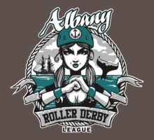 Albany Roller Derby League Logo T-Shirt