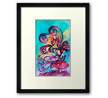 SMALL ELF OF MUSHROOMS Framed Print