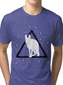 edited mammal in a triangle Tri-blend T-Shirt