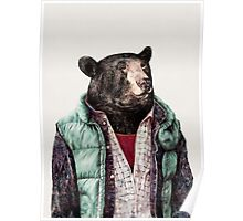 Black Bear (Mint Green) Poster