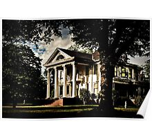 Faulkner's South - Old Greek Revival Mansion Poster