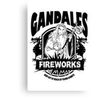 Gandalfs Fireworks - Keep Out Of Reach Of Young Hobbits Canvas Print