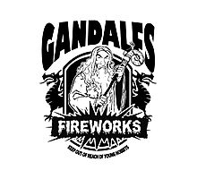Gandalfs Fireworks - Keep Out Of Reach Of Young Hobbits Photographic Print