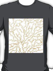 Luxurious faux gold glitter foliage handdrawn T-Shirt