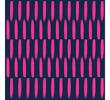 Modern abstract neon pink navy blue brushstrokes Photographic Print