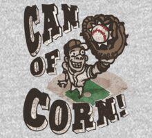 Can of Corn Retro Baseball Player One Piece - Short Sleeve