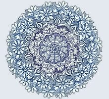 Indigo Medallion with Butterflies & Daisy Chains by micklyn