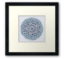 Indigo Medallion with Butterflies & Daisy Chains Framed Print