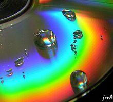 Water Drop on CD by jonAt