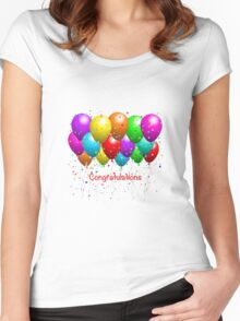 Congratulations Balloons  Women's Fitted Scoop T-Shirt