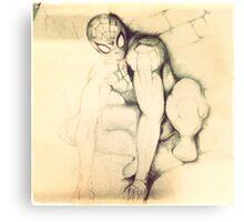 Vintage spider Canvas Print