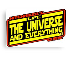 Hitchhiker's Guide Strikes Back Canvas Print