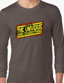 Hitchhiker's Guide Strikes Back Long Sleeve T-Shirt