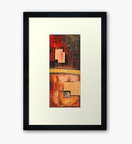 temptations of those invisible things that manifest in beds Framed Print