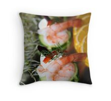 prawns Throw Pillow