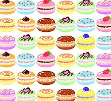 Colorful Sweet Macaroons Pattern by beaglecakes
