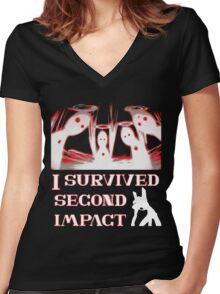 Second Impact Survivor Women's Fitted V-Neck T-Shirt
