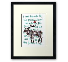 Wild Stag Framed Print