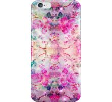 Girly pastel pink floral bright watercolor space iPhone Case/Skin