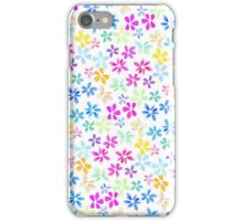 Spring watercolor hand painted bright flowers iPhone Case/Skin