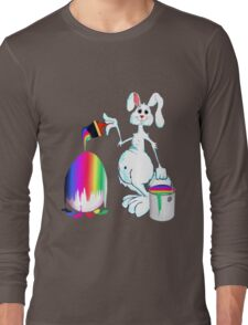 Easter Bunny Paints Long Sleeve T-Shirt