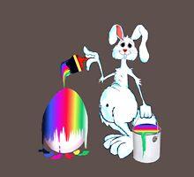 Easter Bunny Paints Mens V-Neck T-Shirt