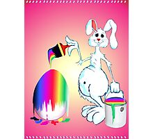 Easter Bunny Paints Photographic Print