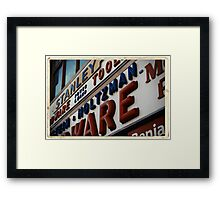 Weinstein & Holtzman Hardware - New York City Store Sign Kodachrome Postcards  Framed Print