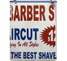 Barber Shop - New York City Store Sign Kodachrome Postcards  iPad Case/Skin