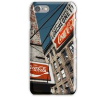 Cup & Saucer - New York City Store Sign Kodachrome Postcards  iPhone Case/Skin